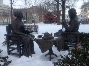 Susan B. Anthony and Frederick Douglass